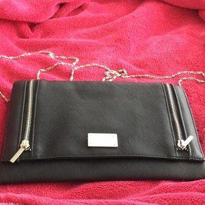 Briefcase Clutch Purse W/ Silver Shoulder Chain!
